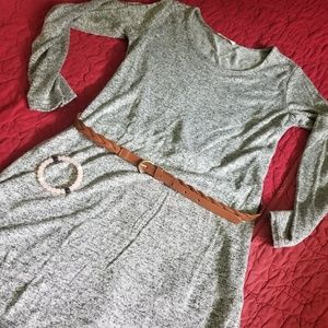 Size large light sweater material grey tunic top